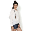 Kristine White Drop Shoulder Casual Shirt