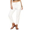 Tia Linen Cropped Pants with Elasticated Waist