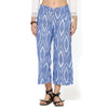 Aria Blue Ikkat Wide Leg Pants