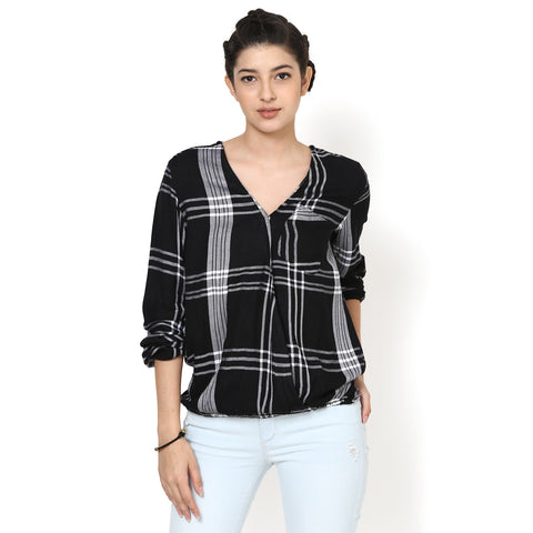 Isabella Easy Plaid Top