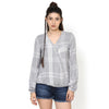 Mia Easy Plaid Top
