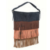 Leela Blue Fringed Side Bag