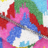 Multicolor Ikat Pattern Clutch