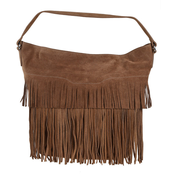 Dawn Leather Fringed Bag