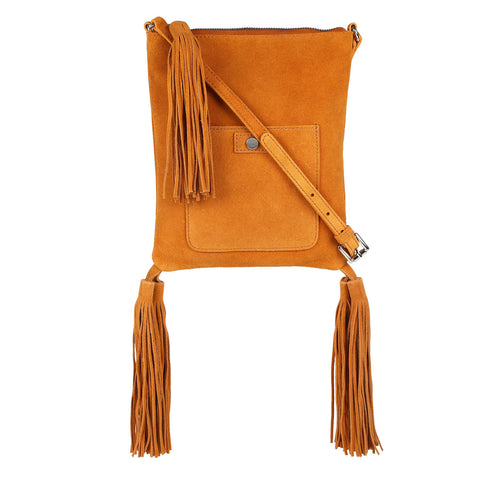 Sunrise Fringed and Tasseled cross body Bag