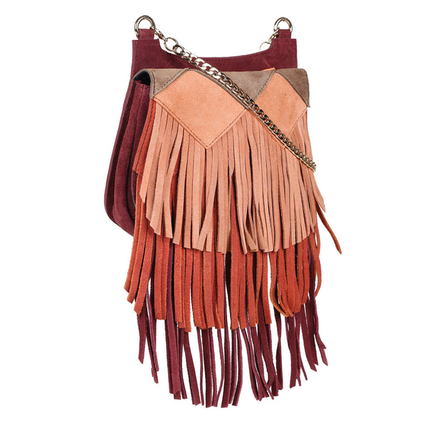 Chain Cross Body with Fringes