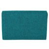 Green Tweed Embellished Clutch