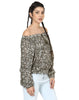Loom Tree Olive Green Print Blouson Top