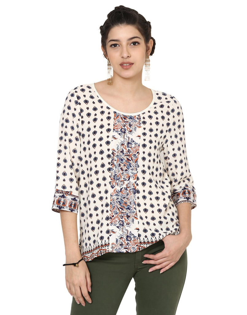 Loom Tree Printed Panelled Top