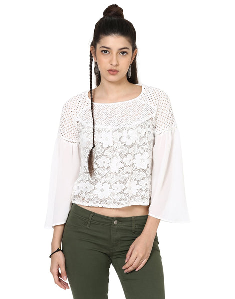 Loom Tree Peasant Blouson Top