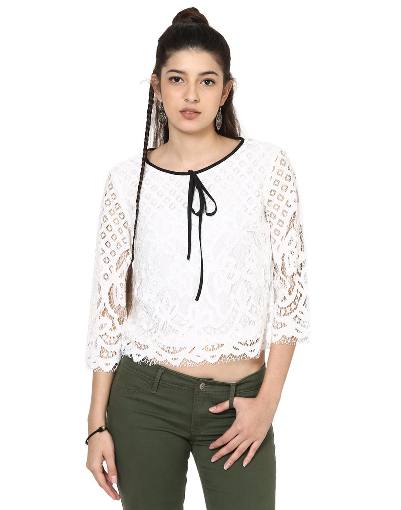 Loom Tree Karni Lace Crop Top