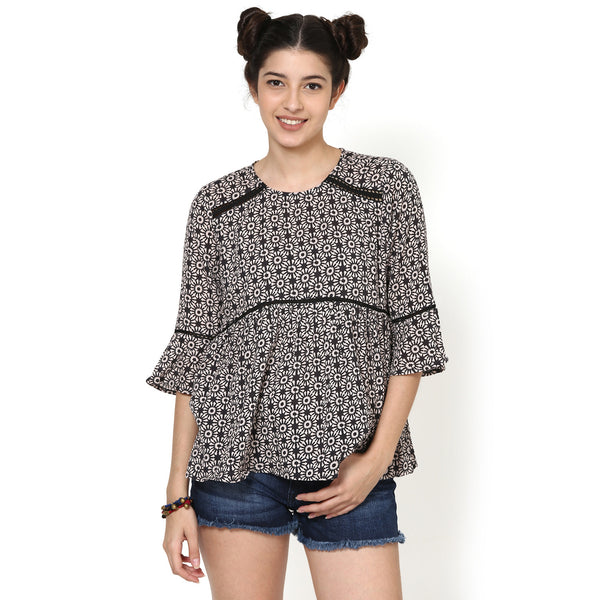 Alice Printed Flared Top