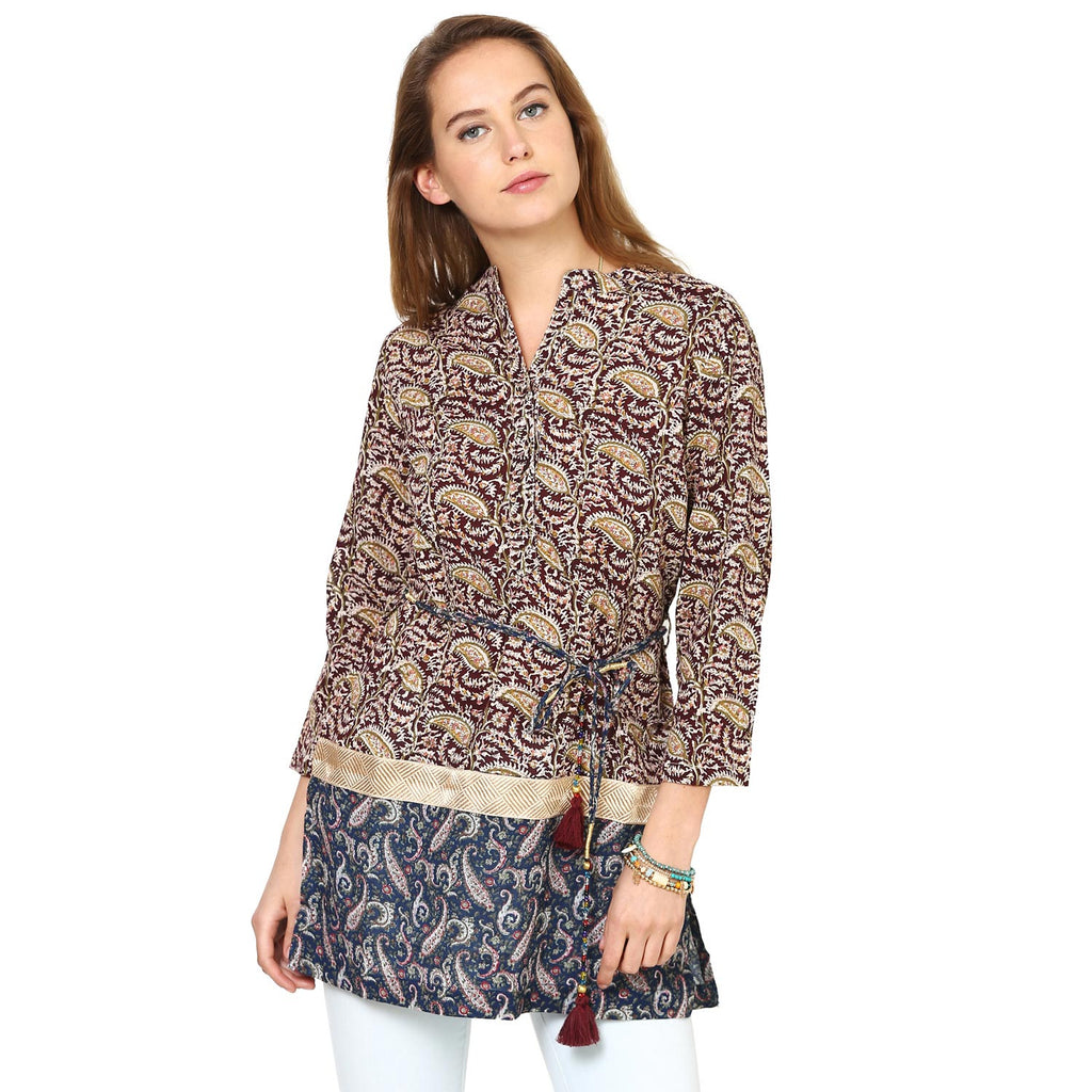 Anjushri Panelled Shirt Dress