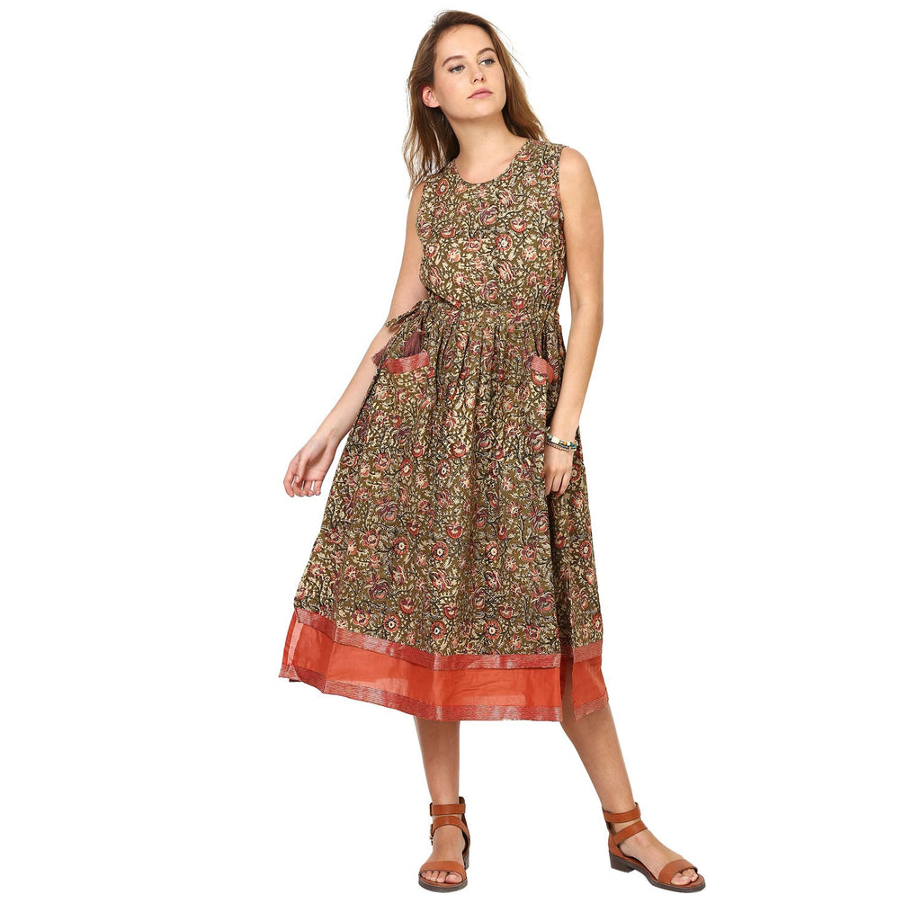 Anamika Fit And Flare Gathered Dress
