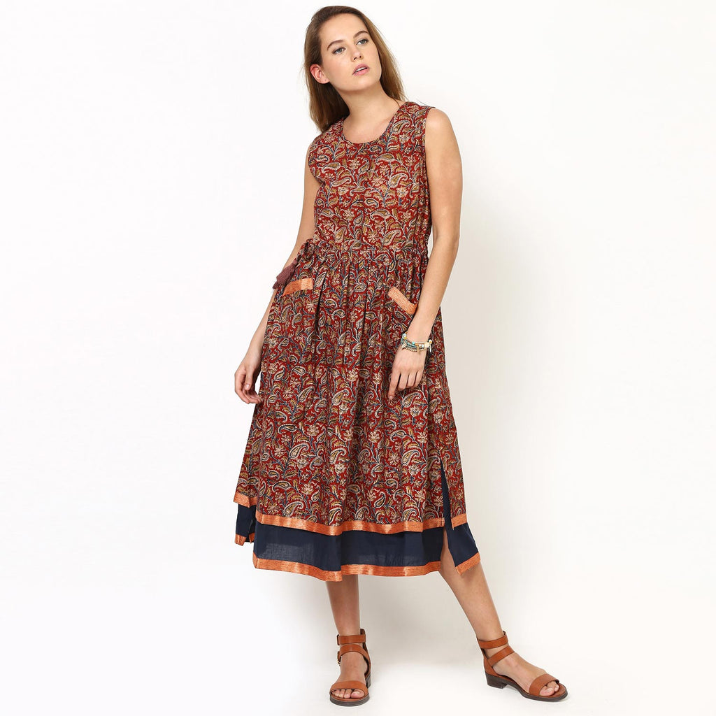 Sophia Fit And Flare Gathered Dress
