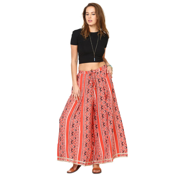 Loom Tree Pleated Flared Palazzo