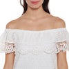 Loom Tree Bardot Schiffli & Lace Top