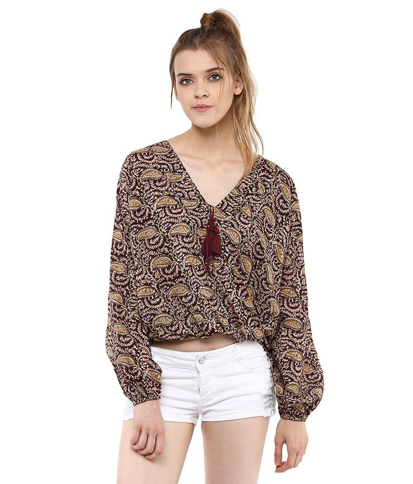 Loom Tree High Low Wrap Top
