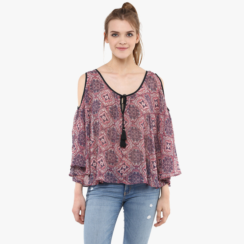 Varha Cold Shoulder Top