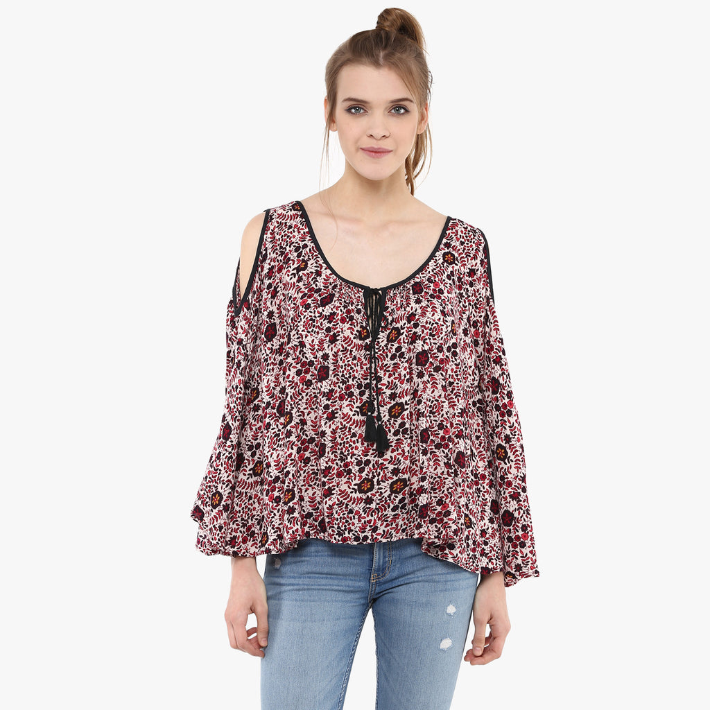 Varsha Cold Shoulder Top
