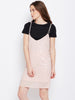 Celine shimmer slip dress with tee