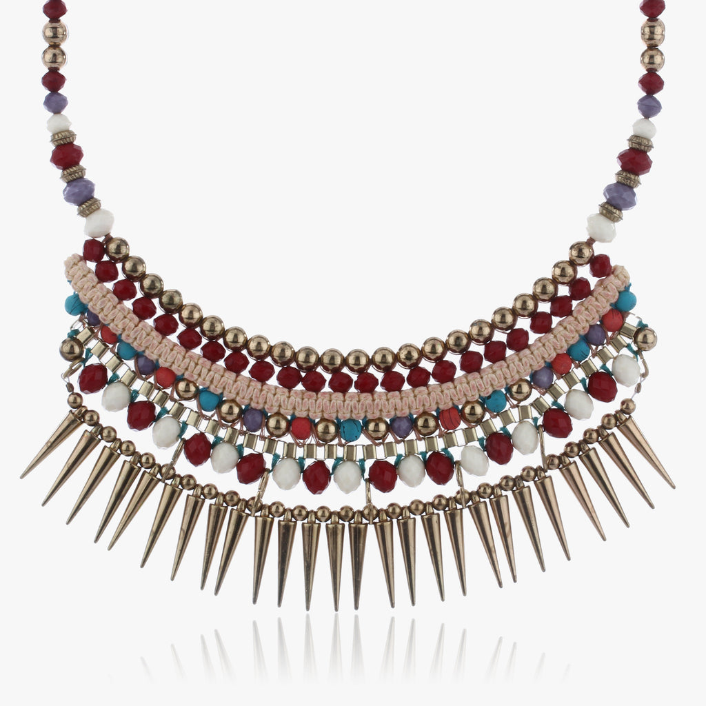 Lavi Layered Spike Necklace