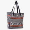 Zubeni Woven Tote Bag with Embroidery