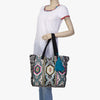 Meraki Woven Shopper Bag with Embroidery