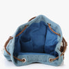 Ishani Denim and Lace Duffle Backpack