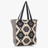 Pauro Woven Tote Bag with Embroidery