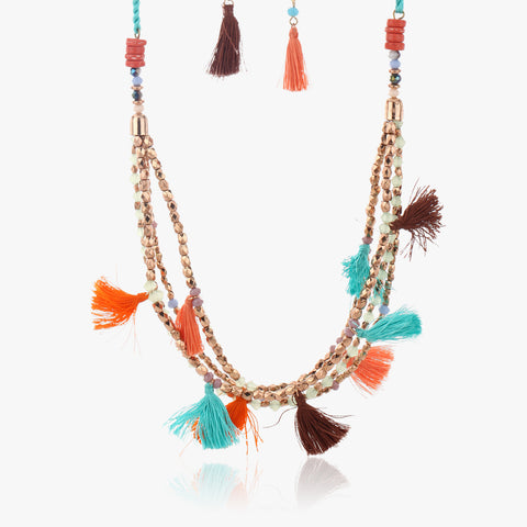 Gumpa Multi Strand Tassel Necklace