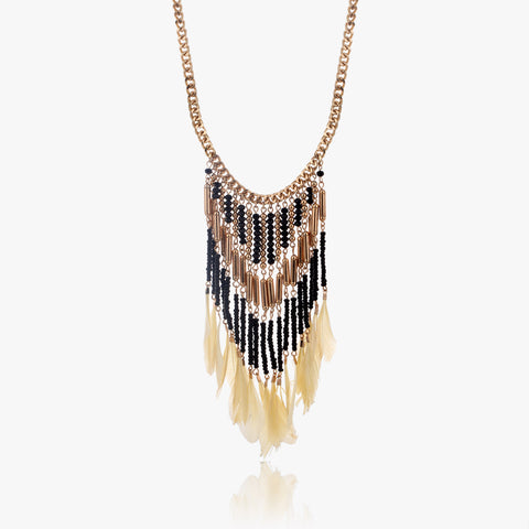 Gili Feathered Drop Necklace