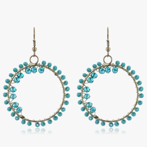 Kaasni Beaded Hoop Earrings