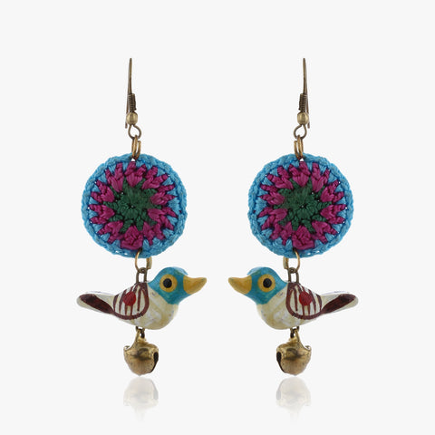 Jawa Handmade Bird Drop Earrings