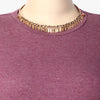 Gamya Golden Stiff Necklace with Crystals
