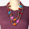 Lima Handmade Crochet Flowers Necklace