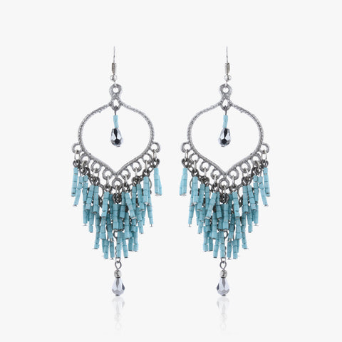 Chetsi Hoop Drop Earrings