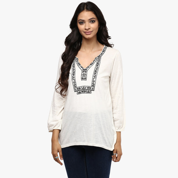 Lulu Embroidered Peasant Top