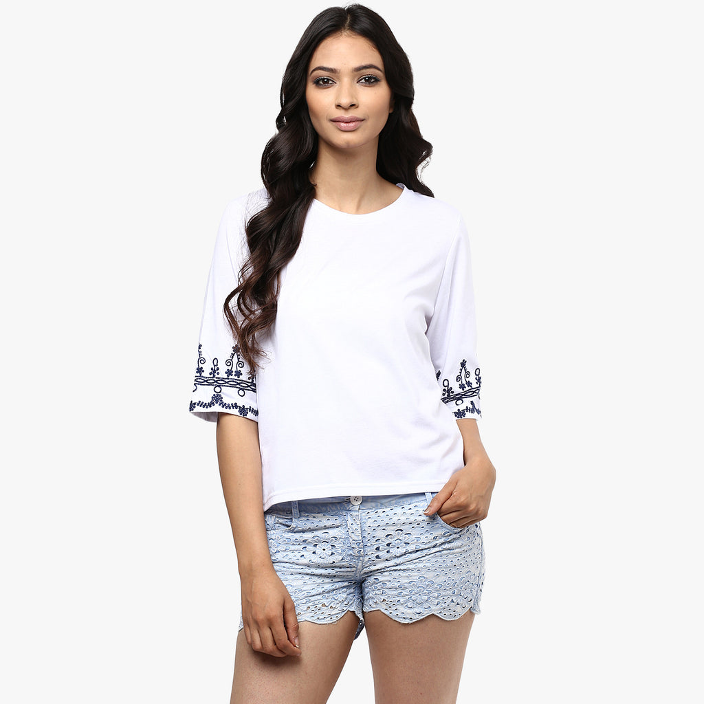 Audrey Cropped Tee