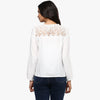 Bianco Lace Yoke Top