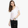 Gia Embroidered Peasant Top
