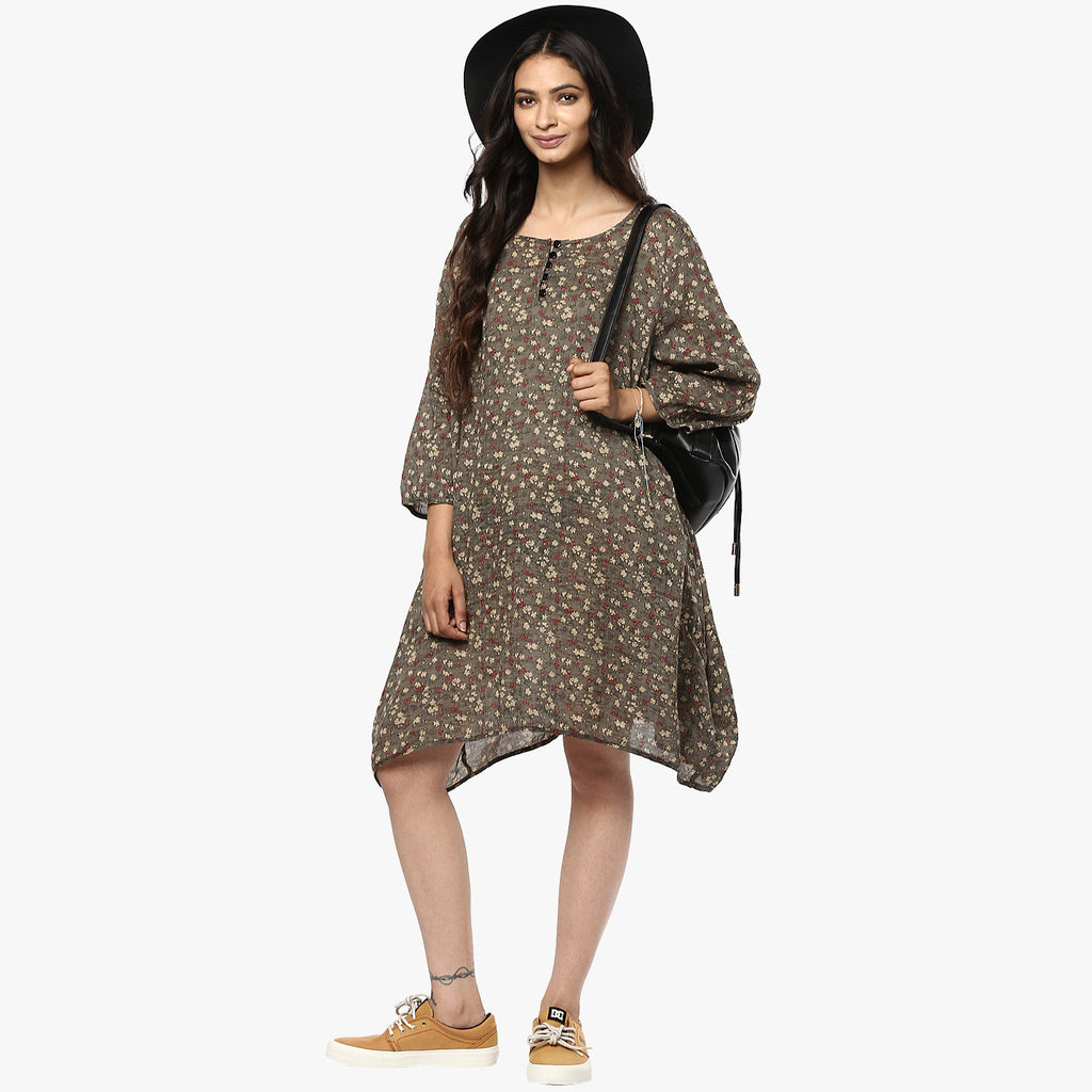 Saryu Printed Easy Dress