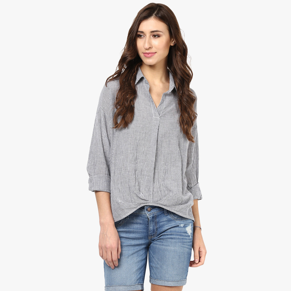 Estella Assymetrical hem Shirt
