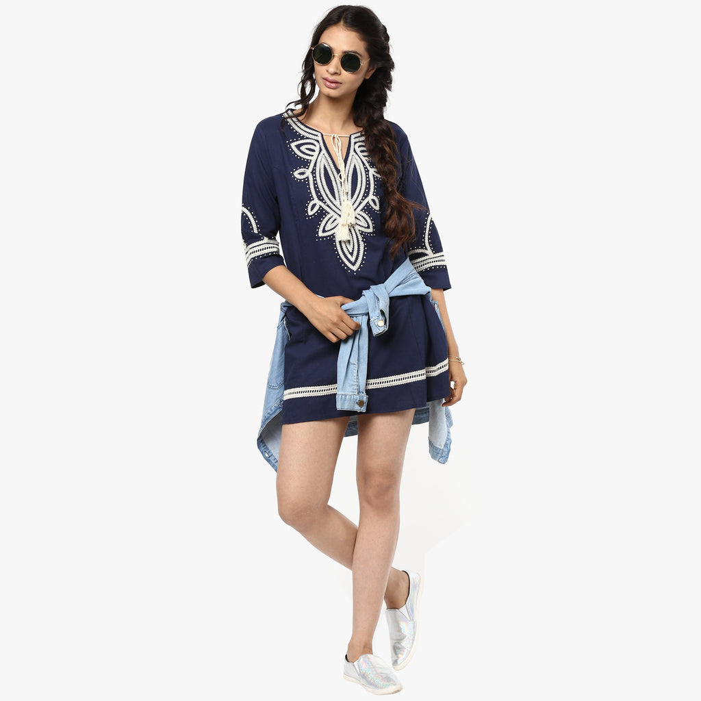 Triti Embroidered Peasant Tunic