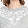 Jayla Embroidered Crop Sweat