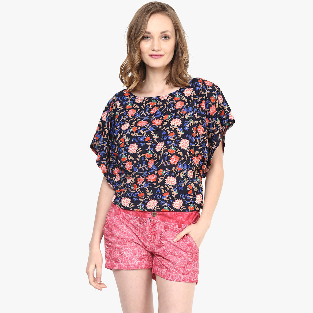Talia Printed Crop Top