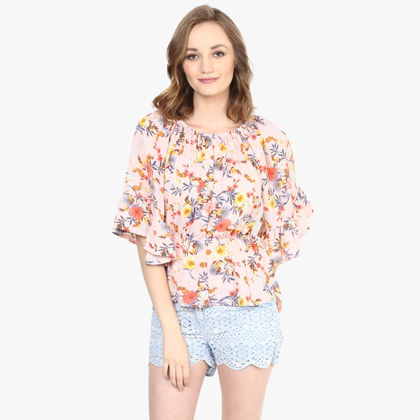 Lindsay Printed Crop Top
