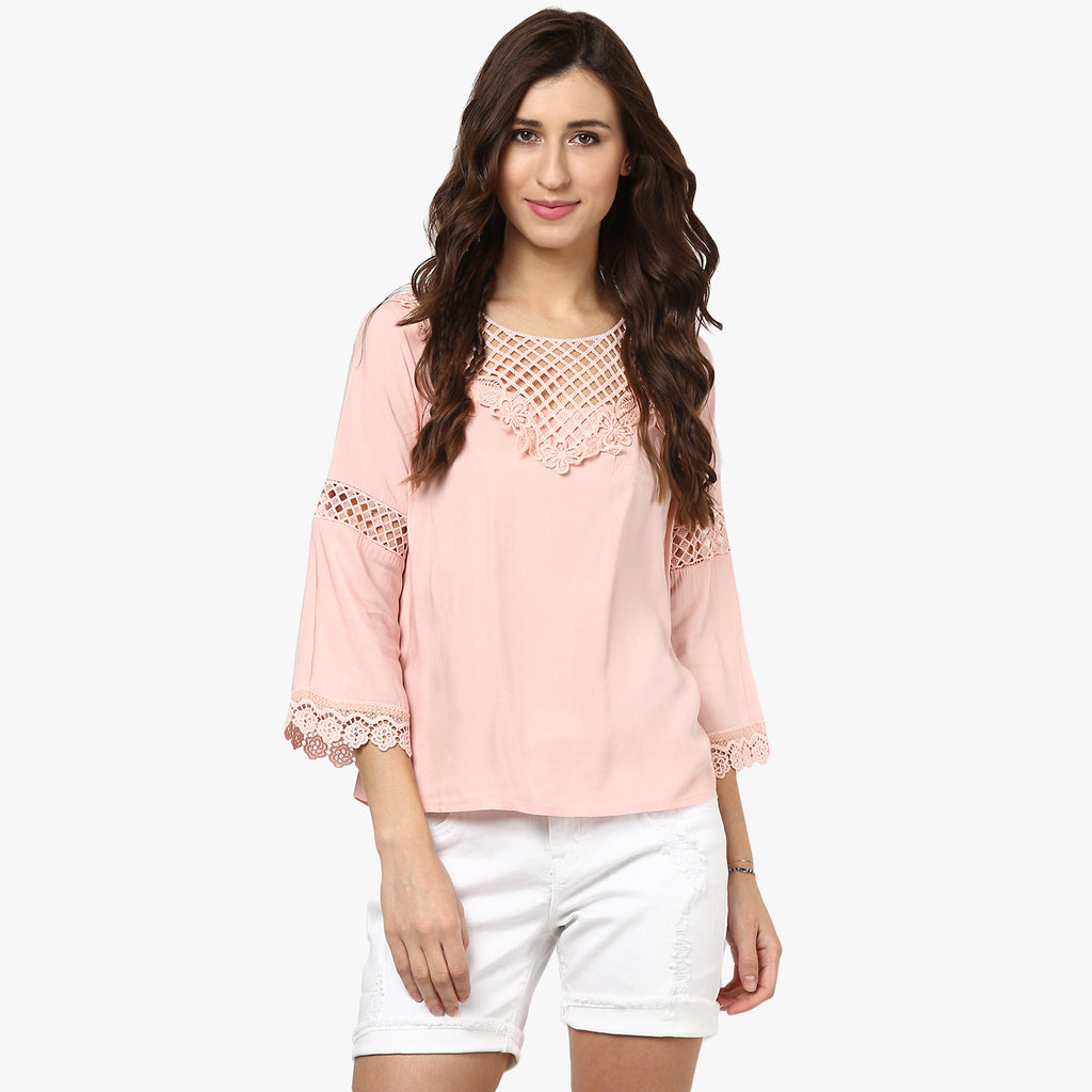 Donna Lace Yoke Top