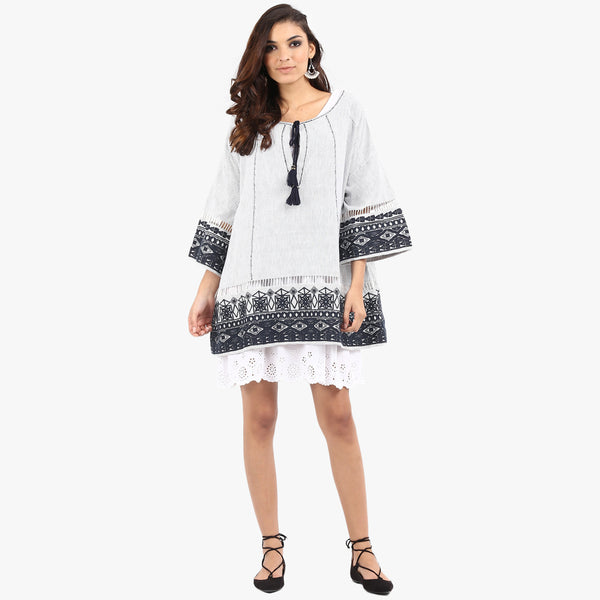 Kaspa Bohemian Dress with Embroidery