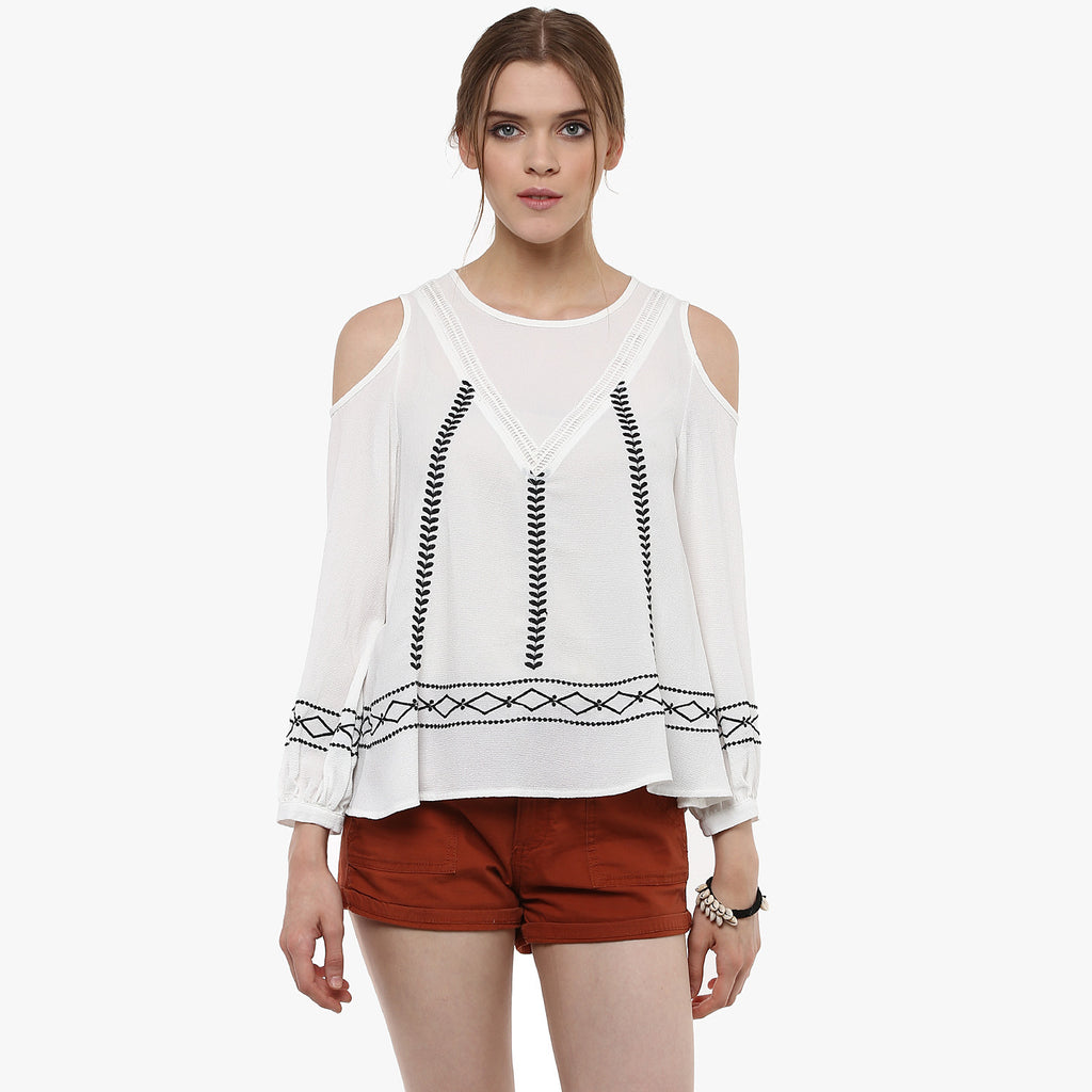 Rhea Cold Shoulder Top